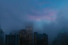 Foggy Skyline Vancouver