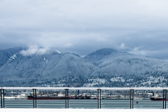 North Vancouver mountains in Winter
